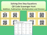 Solving One Step Equations Addition Subtraction Multiplication and Division
