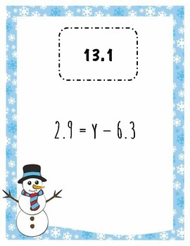 Solving One Step Equations (Addition and Subtraction) w/ Decimals Scavenger Hunt