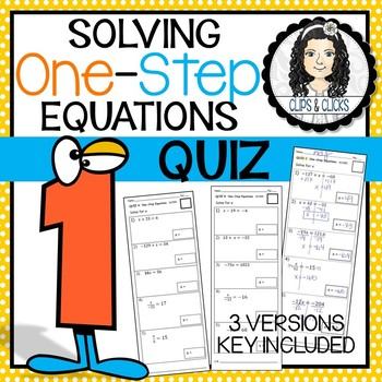 Solving One-Step Equations Assessment Quiz