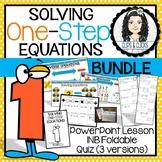 Solving One-Step Equations BUNDLE