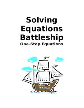 Solving One-Step Equations Battleship