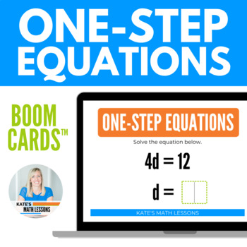 Solving One-Step Equations Boom Cards