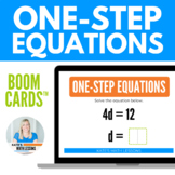 Solving One-Step Equations Boom Cards™  Digital Activity
