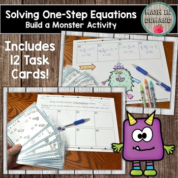 Solving One-Step Equations (Build a Monster) Activity