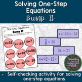 Solving One-Step Equations Bump it Game--Math Station