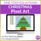 Solving One Step Equations Christmas Pixel Art Activity