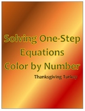 Solving One-Step Equations Color by Number