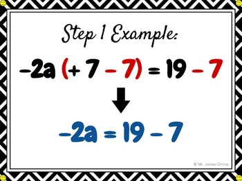 Solving One-Step Equations: DIY Math Anchor Chart CLIPCHART