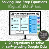 Solving One-Step Equations Digital Break Out | Google Self