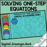 Solving One-Step Equations Digital Scavenger Hunt