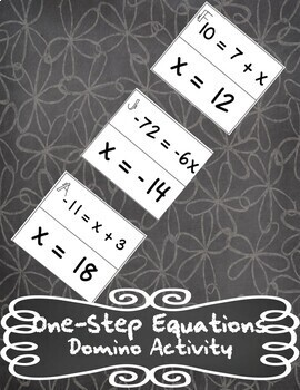 Solving One-Step Equations Domino Activity