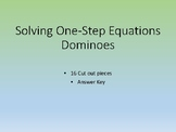 Solving One-Step Equations Dominoes