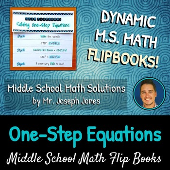 Solving One-Step Equations Flip Book