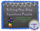 Solving One-Step Equations Fun Engaging Worksheet Activity