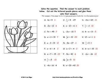Solving One-Step Equations Fun Engaging Worksheet Activity | TpT