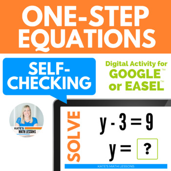 Solving One-Step Equations Digital Activity for Google Drive