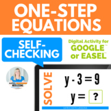 Solving One-Step Equations Digital Activity for Google Drive™