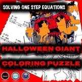 Halloween Algebra Math Activity - Solving One-Step Equations