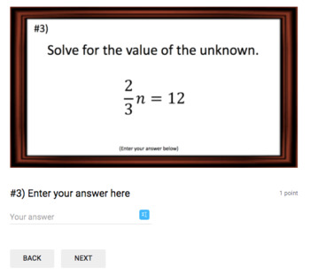 Solving One-Step Equations – Google Bell Ringer with Student Feedback Option