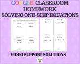 Solving One-Step Equations – Google Classroom Homework with Video Supports
