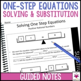 Solving One Step Equations Guided Notes - Solving One Step Equations Notes