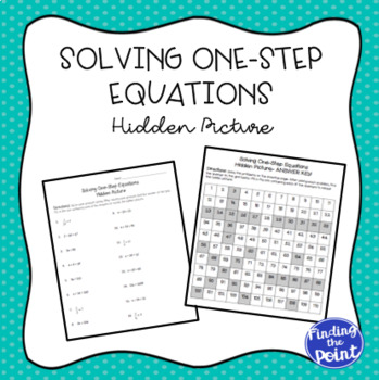 Solving One-Step Equations Hidden Picture