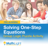 Solving One-Step Equations Logic Puzzle Group Activity   D