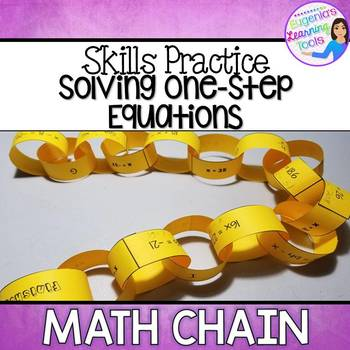 Solving One Step Equations Math Chain
