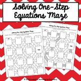 Solving One-Step Equations Maze