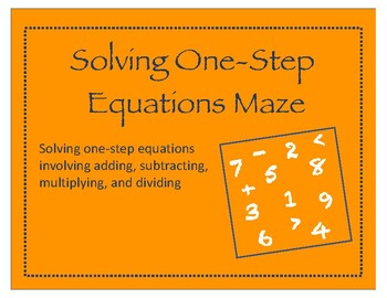 Maze: Solving One-Step Equations
