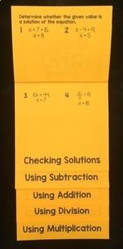 Solving One-Step Equations (Mega Foldable)