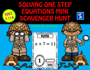 Solving One Step Equations Mini Scavenger Hunt