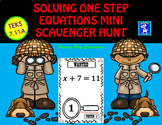 Solving One Step Equations Mini Scavenger Hunt