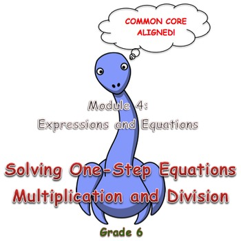 Solving One-Step Equations (Multiplication and Division)