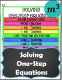 Solving One Step Equations NOTES & QUIZ (FOR GOOGLE)