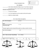 Solving One-Step Equations Notes