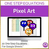 Solving One Step Equations Pixel Art Activity FREEBIE