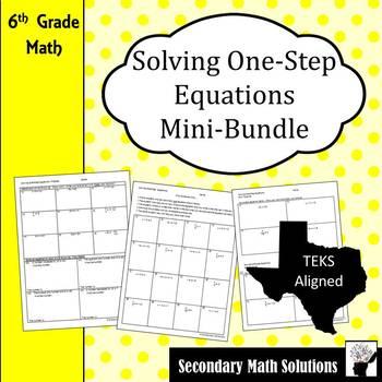 Solving One-Step Equations Mini-Bundle (6.10A)