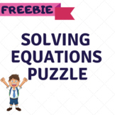 Solving One-Step Equations Puzzle