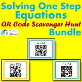 Solving One Step Equations QR Code Scavenger Hunt BUNDLE