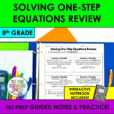 Solving One-Step Equations Review Notes