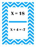 Solving One Step Equations Scavenger Hunt