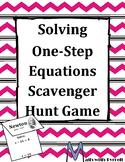 Solving One-Step Equations Scavenger Hunt Game