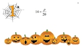 Solving One-Step Equations Sets A, B, and C Halloween Themed
