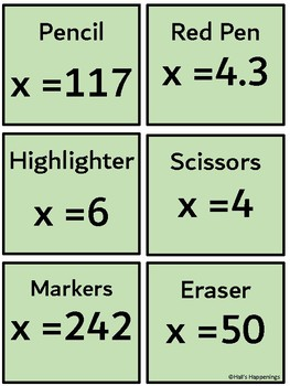 Solving One-Step Equations Solve the Mystery Puzzle
