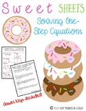Solving One-Step Equations {Sweet Sheets}