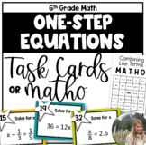 Solving One- Step Equations (Task Cards)