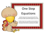 Solving One Step Equations Thanksgiving Riddle