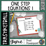 Solving One Step Equations Trashketball Math Game