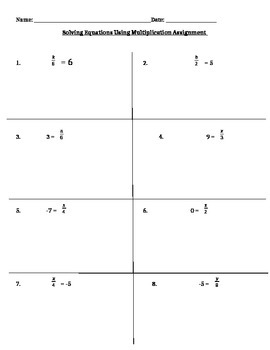 Solving One Step Equations Using Multiplication Assignment